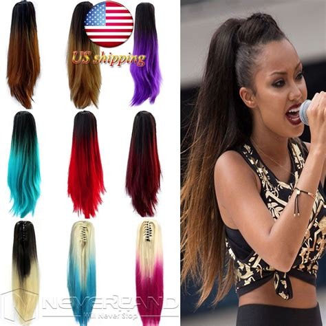 Predium Two Tone Clip In Ombre Hair Extension Straight