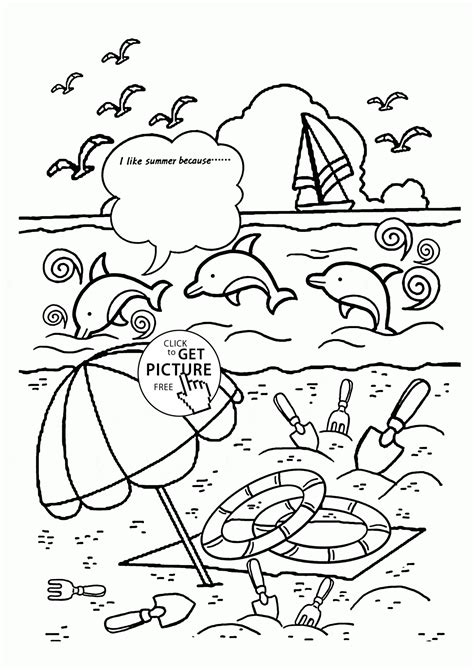summer color pages free preschool summer coloring pages az coloring pages