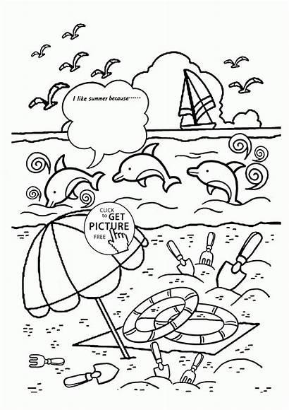Coloring Summer Pages Preschool Seasons Popular Bmp