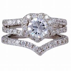 Silver diamond wedding rings for women wedding ring sets for Womens diamond wedding ring sets