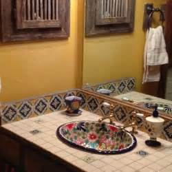 Mexican Bathroom Ideas 236 Best Images About Decorating With Talavera Tiles On Hacienda Style