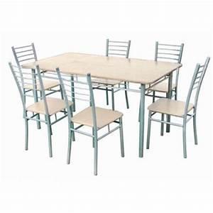 Table et chaise de cuisine for Deco cuisine avec chaise de salon grise