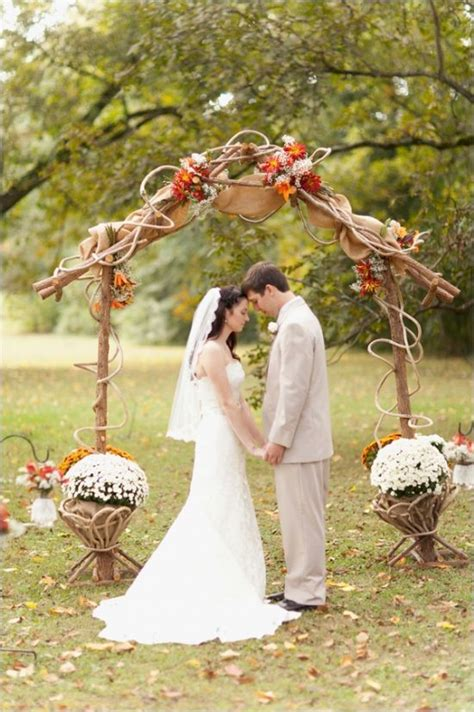 fall wedding arch ideas  rustic wedding deer pearl