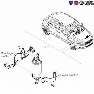 Fiat Grande Punto 1 3 Mjd 90hp  Diesel Fuel Filter Mounting