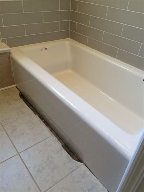 tiling a bathtub deck need help with a 2 inch gap between my new tub and the