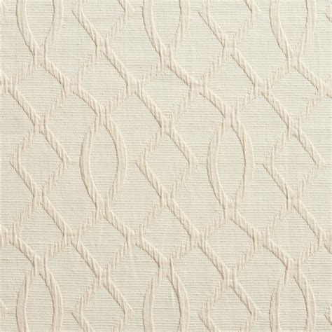 Cream Lattice Woven Upholstery Fabric By The Yard   Contemporary   Upholstery Fabric   by