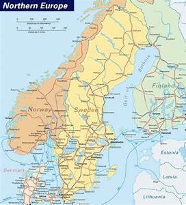 Northern Europe Map • Mapsof.net