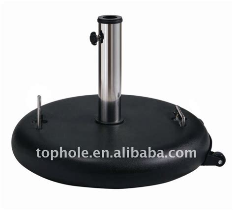 outdoor parasol polycrete umbrella stand with wheels