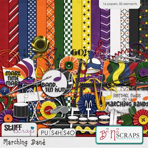Marching Band By B2n2 Scraps  Digital Scrapbook Kits That