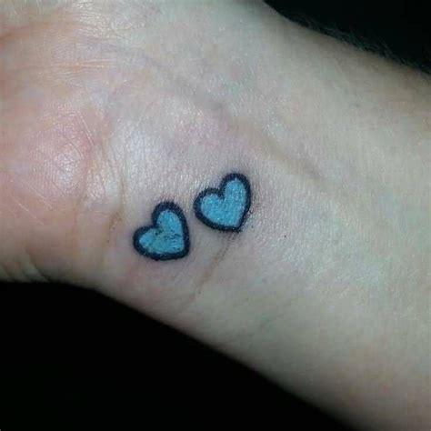 blue heart tattoo buscar  google heart tattoo