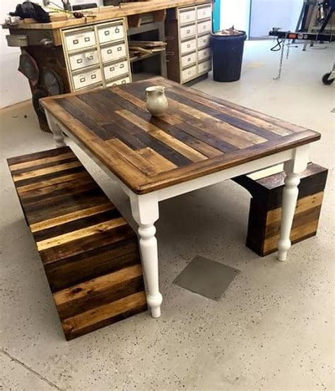 awesome diy wood pallet dining table set ideas