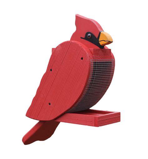 amish made cardinal bird feeder
