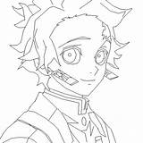 Tanjiro Slayer Demon Coloringpagesonly Smiling Coloring sketch template