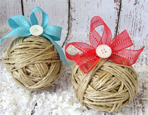 rustic christmas ornaments with glitter buttons