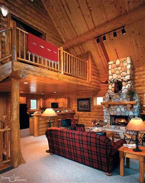 log cabin home interiors log home fireplace lakehouse cabin tiny house pinterest