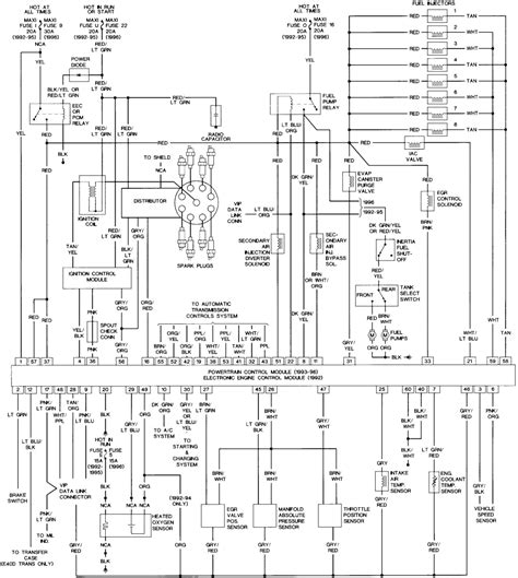 1995 Ford Trailer Wiring Diagram by 2000 Ranger Fuse Panel Diagram Wiring Hub At 1995 Ford