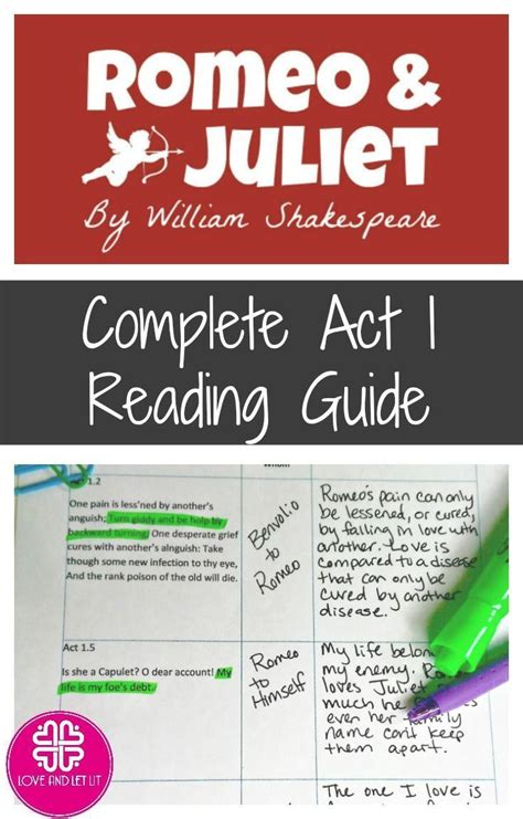 153 best romeo and juliet lesson plans images on