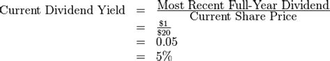 Div Yield Calculation by Business Valuation Management Accounting Education
