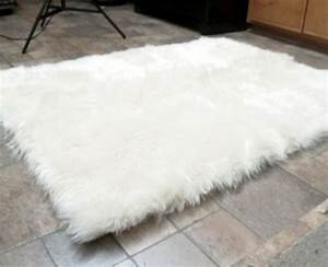 Faux Fur Area Rug White Large - Rugs & Carpets