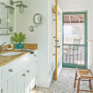 pebbled bathroom floor 100 comfy cottage rooms coastal living
