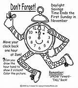 Coloring Change Fall Word Clock Pages Reminder Activities Printables November Daylight Savings Fun Worksheets Puzzles Printables4kids Sunday Range Saving Printable sketch template