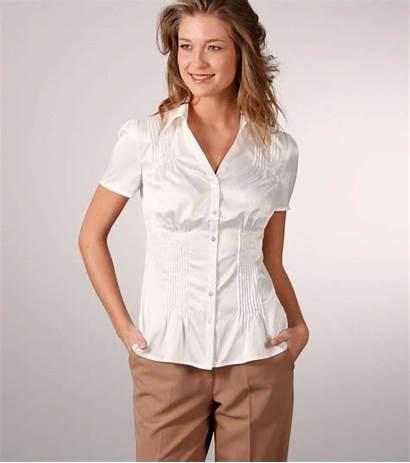 Satin Short Sleeve Blouses Blouse Shirt Stretch