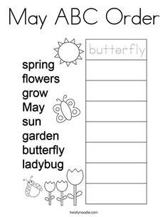 Place all the letters in alphabetical order. Put the words in alphabetical order Coloring Page ...