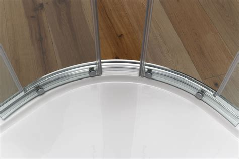 doccia circolare yumi box doccia circolare scorrevole finitura bianco 80 cm