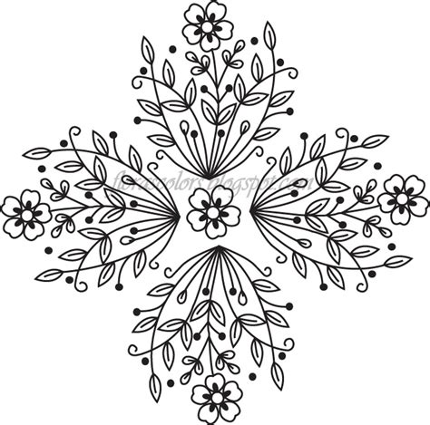 5 free hand embroidery patterns + resources for the modern needlework artist. Flora's Colors: Free Hand Embroidery Pattern---Flower and ...