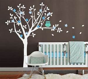 Baby Room Wall Decals, Tree and Owl Wall Decal Set, Tree ...