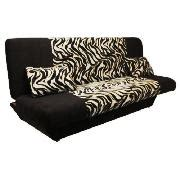 congo large fabric clic clac sofa bed zebra black