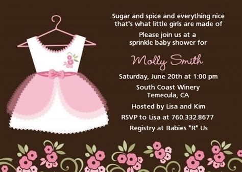 girl baby shower invitations baby shower invitations candles and favors