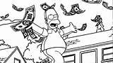 Coloring Money Pages Dollar Simpsons Bill Sign Bills Scrooge Getcolorings Printable Five Cartoon Wecoloringpage Emerging sketch template