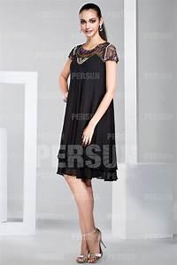 Robe Boheme Courte : robe boh me courte en mousseline noire col perl ~ Melissatoandfro.com Idées de Décoration