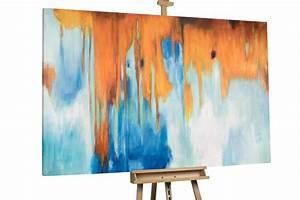 Gemälde In öl : l gem lde in blau auf xxl leinwand kaufen kunstloft ~ Sanjose-hotels-ca.com Haus und Dekorationen