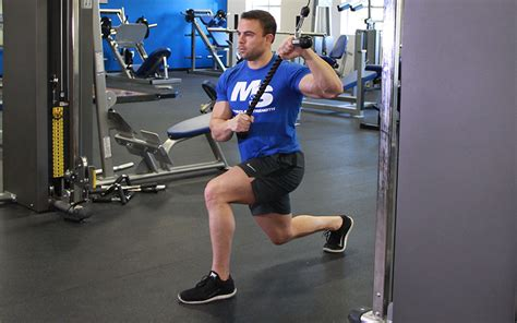split stance cable chop video exercise guide tips