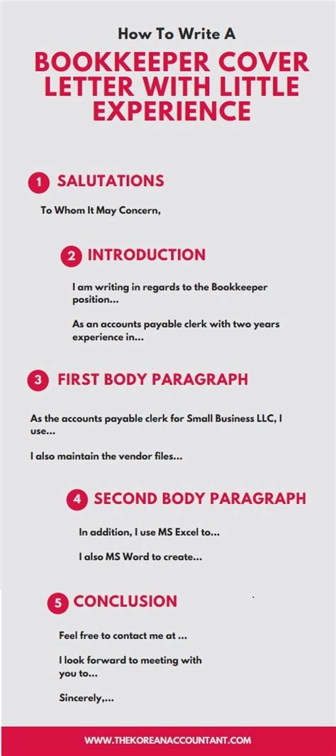 write  bookkeeper cover letter