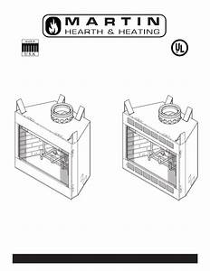 Martin Fireplaces 400bwba Installation Manual