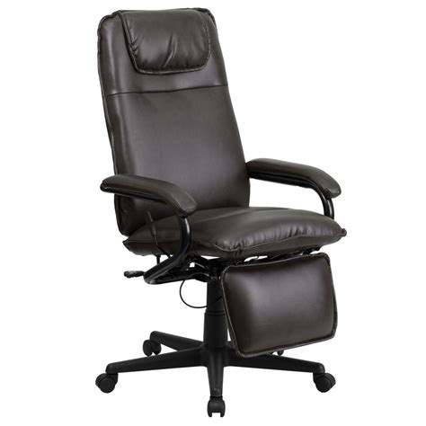 Office Chairs Office Depot by Flash Furniture High Back Brown Microfiber Contemporary