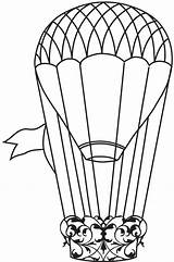 Balloon Air Coloring Balloons Printable Templates Clip Template Doodle Ballon Reference Steampunk Stamp Drawings Printables Clipart Stamps Pages Spinner Clipartpanda sketch template