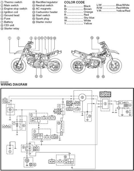 wiring key to killswitch ttr50 general dirt bike