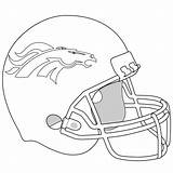 Broncos Denver Helm Ausmalbild Coloring Helmet Football Ausmalbilder Bowl Kategorien sketch template