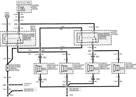 Cadillac Deville Radio Wiring Diagram Free