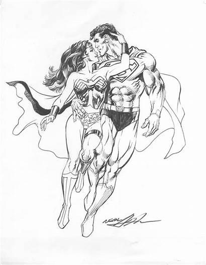 Woman Wonder Coloring Superman Neal Adams Comic