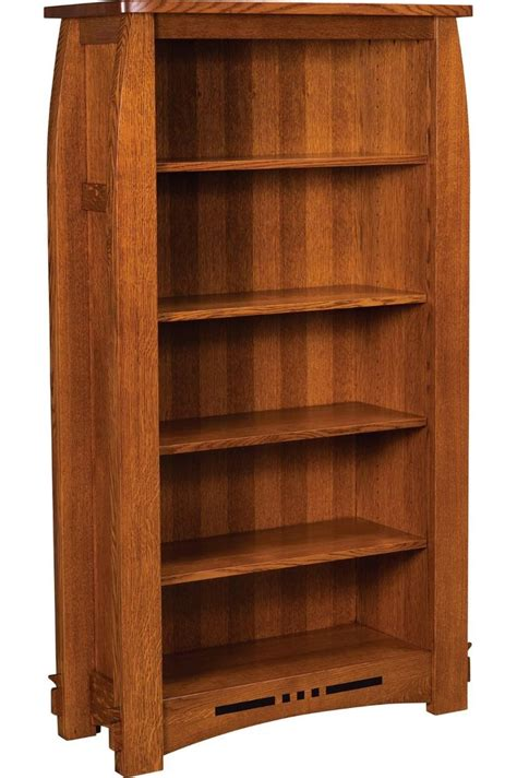 solid wood bookshelf amish mission colebrook bookcase book shelf solid wood 65