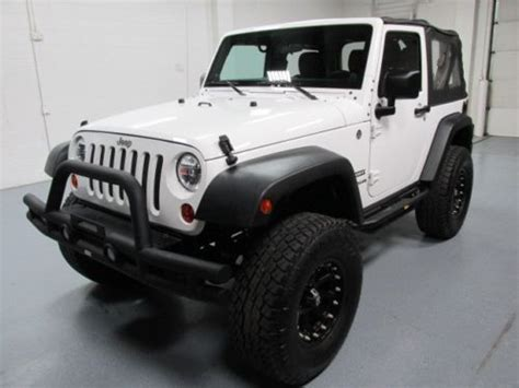 buy   jeep wrangler sport white  lifted bluetooth