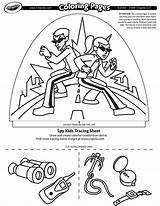Spy Coloring Pages Crayola Dome Designer Printable Light Getcolorings sketch template