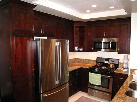 fridge kitchen cabinet custom kitchen cabinets in portola 1111