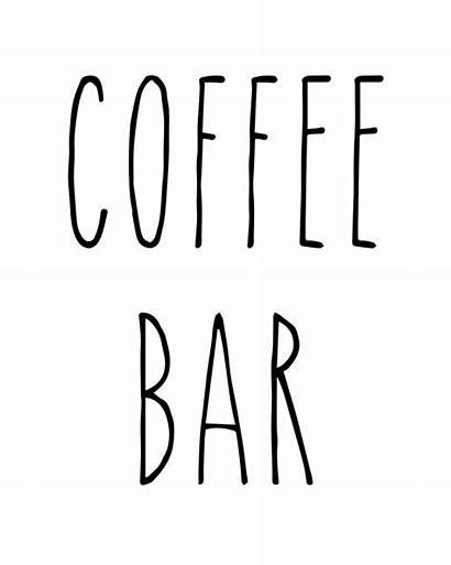 Dunn Rae Font Coffee Printable Bar Sign