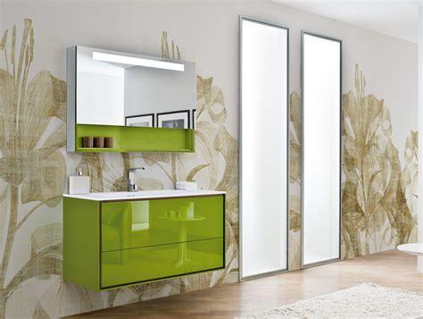 Amazing Green Glossy Acrylic Freestanding Ikea Bathroom